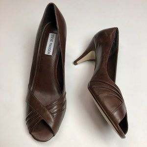 Steve Madden Brown Leather Heels Size 10M